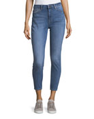 Chrissy Trimtone High-Rise Slim Jeans in Overboard