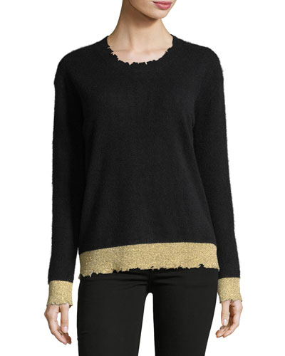 Charlotte Two-Tone Cashmere Sweater