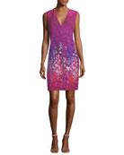 Roanna Sleeveless V-Neck Printed Dress