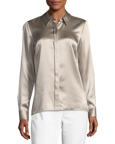 Wren Silk Satin Blouse