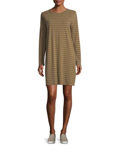 The Long-Sleeve Striped T-Shirt Dress