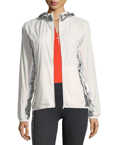 Metallic Nylon Performance Jacket
