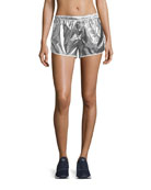 Metallic Pull-On Performance Shorts