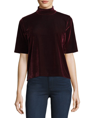 Thea Cutout Velvet Top