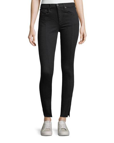 Yuki High-Rise Skinny jeans w/ Pintuck & Slit