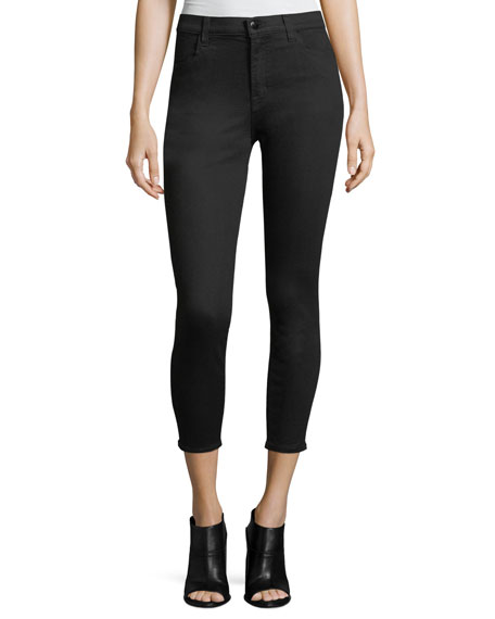 J Brand Alana Photo-Ready High-Rise Super Skinny Crop Jeans