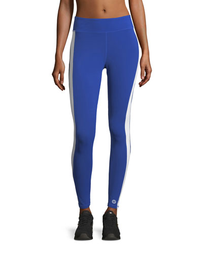 Varsity Striped Performance Leggings