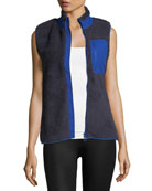 Sherpa Zip-Front Fleece Vest