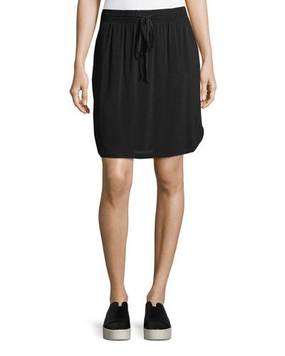 Drawstring-Waist Jersey Skirt