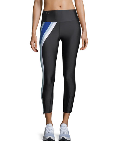 Set Position Side-Stripe Mid-Rise 7/8 Performance Leggings