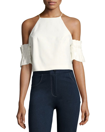 Double Take Cold-Shoulder Blouse