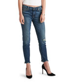 Hudson Tally Mid-Rise Skinny Crop Jeans