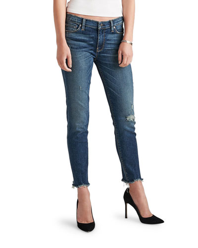 Tally Mid-Rise Skinny Crop Jeans