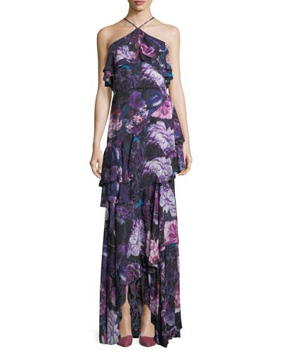 Jodie Halter Evening Gown in Floral Print