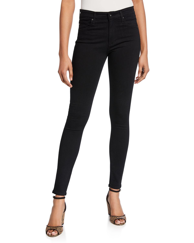 Farrah High-Waist Stretch-Denim Skinny Jeans