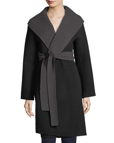 Brushed Wool Double-Face Long Coat