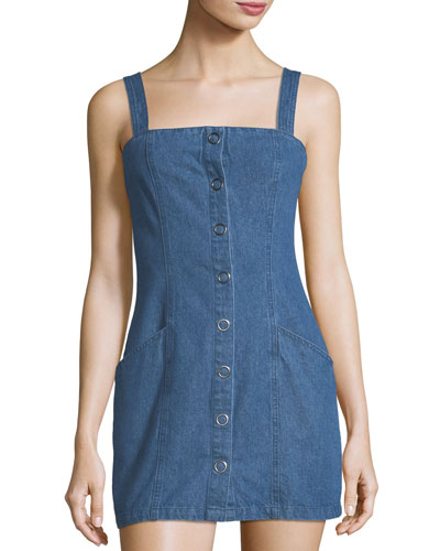 Vagabond Snap-Front Denim Dress