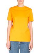 Taline Crewneck Back-Seam Cotton T-Shirt