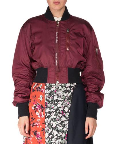 Aila Zip-Front Bomber Jacket