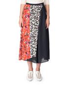 Hayett Mixed Floral-Print A-line Skirt