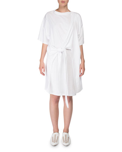 Lylia Faux-Wrap T-Shirt Dress