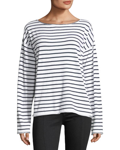 Dakota Striped Long-Sleeve Top