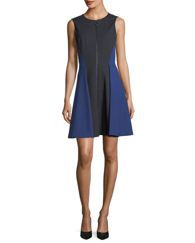 Embline Sleeveless Zip-Front Dress