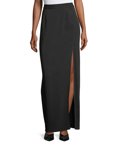High-Slit Long Skirt