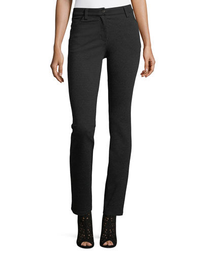 Melange Ponte Skinny Jeans, Plus Size