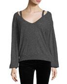 Ashbourne Deep-V Knit Sweater
