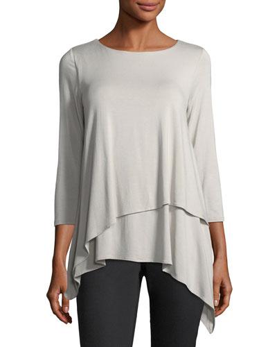 3/4-Sleeve Layered Blouse
