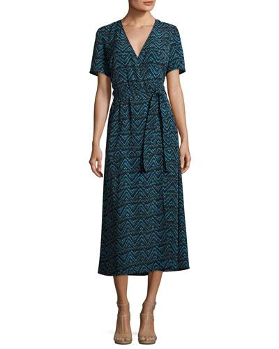 Asa Embroidered Midi Dress