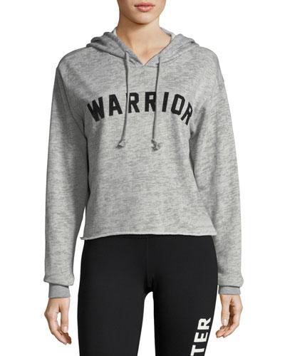 Warrior Arch Crop Jersey Hoodie