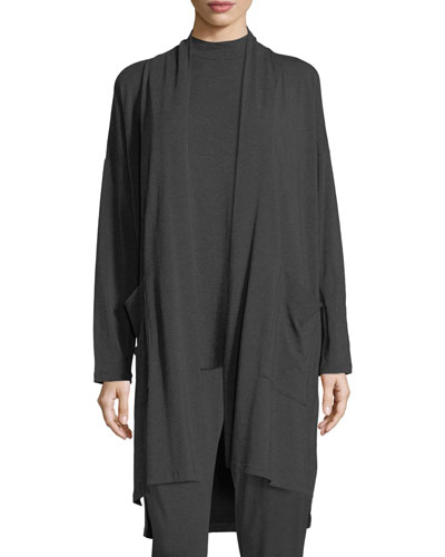 Cozy Tencel® Knee-Length Cardigan, Petite