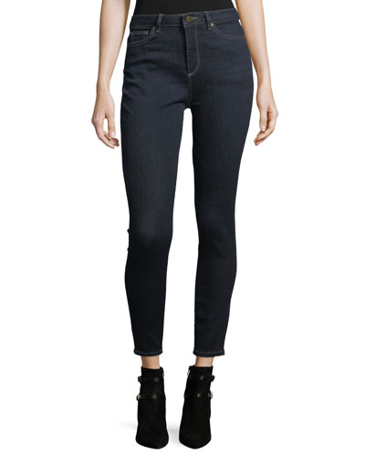Chrissy Trimtone High-Rise Skinny Jeans