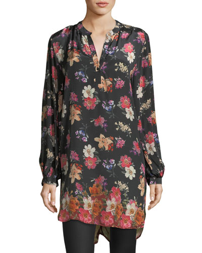 Alaya Floral-Print Tunic Dress