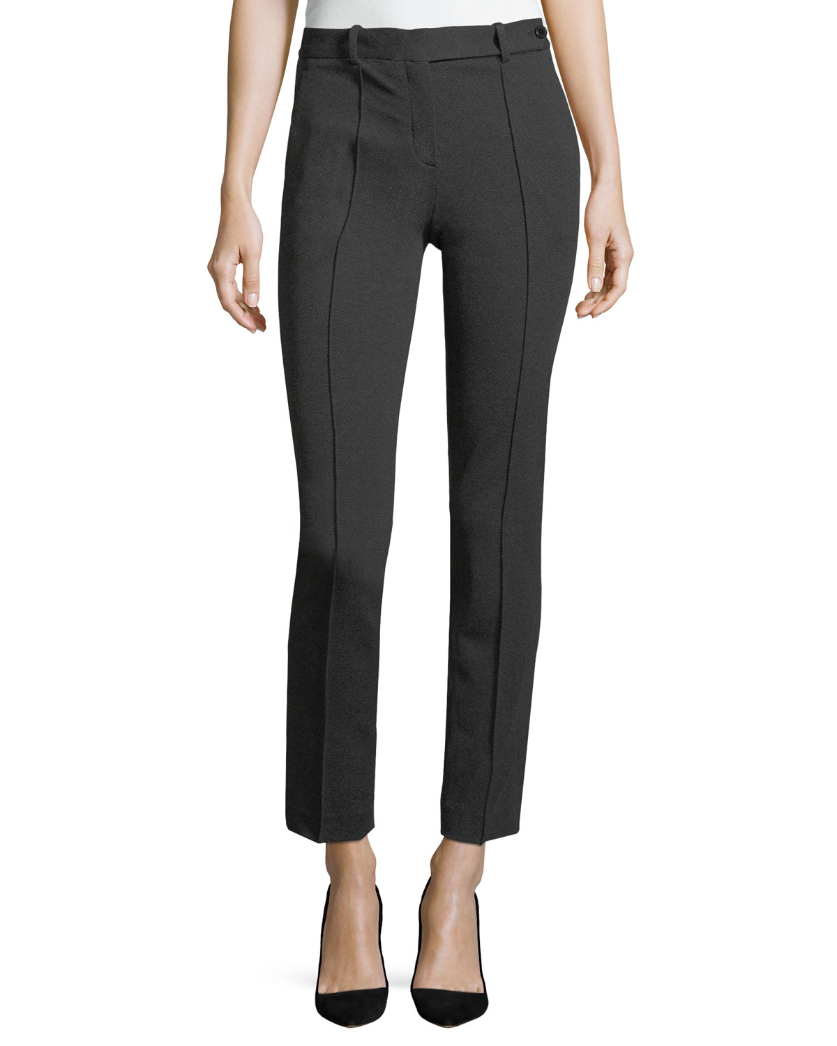 Slim Pintuck Twill Pants