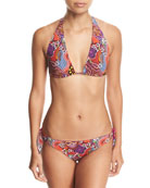 Printed Triangle Two-Piece Swim Set