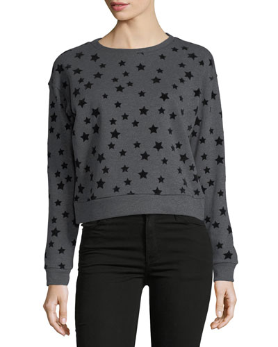 Flocked-Stars Sweatshirt