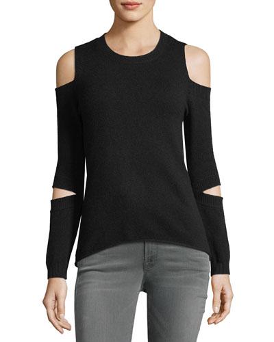 Rosie Cold-Shoulder Cashmere Sweater