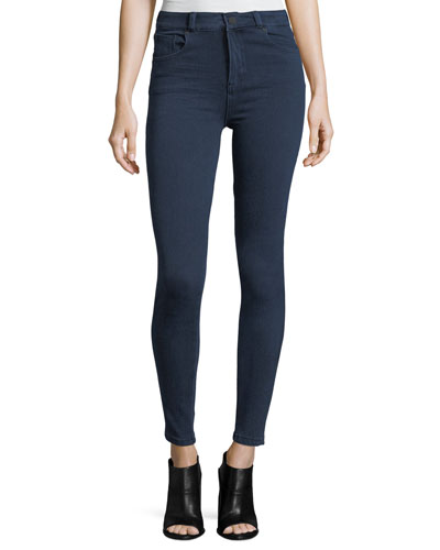Quincy Mid-Rise Skinny-Leg Jeans