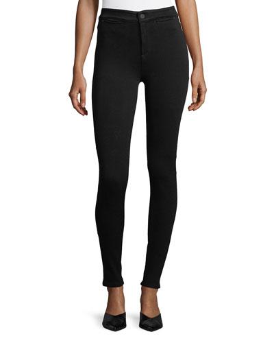 ACYNETIC Jennie Mid-Rise Super Skinny Jeans, Black