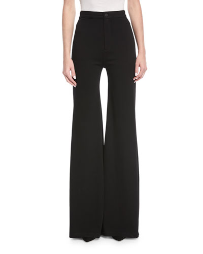 Gwen High-Waist Wide-Leg Pants