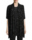 Shimmered Burnout Caftan Cardigan