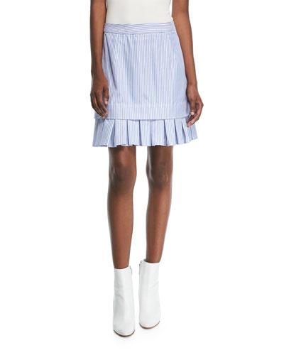 Lucy Striped Cotton Miniskirt
