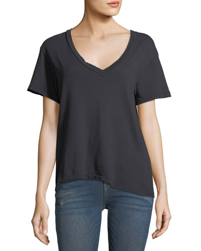 V-Neck Short-Sleeve Cotton Tee