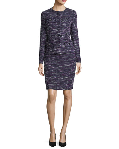 Four-Pocket Tweed Dress w/ Jacket
