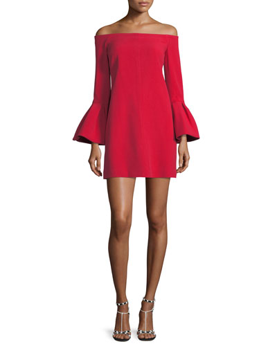 Emery Off-the-Shoulder Crepe Dress