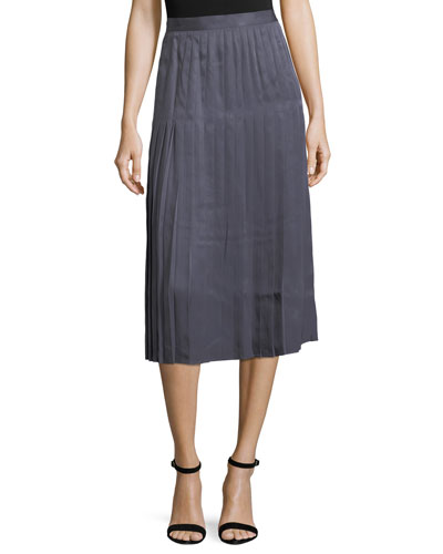 Sabilla Posh Twill Pleated Skirt