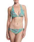 Reversible Printed Bikini Swim Set